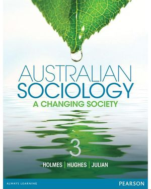 Cover of Australian Sociology: A Changing Society
