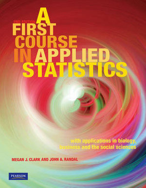 Cover of First Course Applied Statistics (Pearson Original)