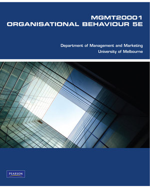 Cover of 325-201 Organisational Behaviour Custom Book                            Source Books, please see text