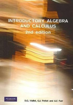 Cover of Introductory Algebra and Calculus Pearson Original