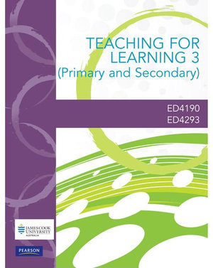 Cover of Teaching for Learning 3 (Primary and Secondary) Custom Book             Source Books, please see text