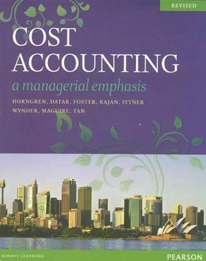 Cover of Cost Accounting Revised
