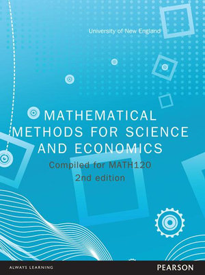 Cover of Mathemetical Methods for Science and Economics Custom Book              Source Books - see text