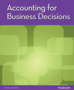 Cover of Accounting for Business Decisions (Custom Book)