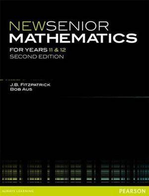 Cover of New Senior Mathematics Year 11 & 12 Student Book