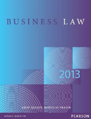 Cover of Business Law 2013
