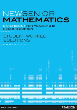 Cover of New Senior Mathematics Extension 1 for Years 11 and 12