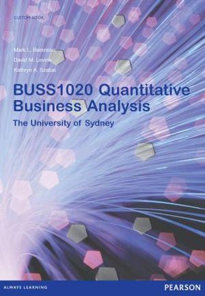 Cover of Quantitative Business Analysis BUSS1020