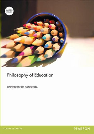 Cover of Philosophy of Education (Custom Edition)