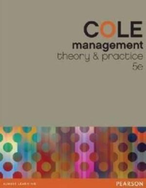 Cover of Management Theory and Practice with eBook and Companion Website Student Access Card