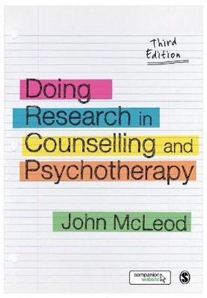 Cover of Doing Research in Counselling and Psychotherapy