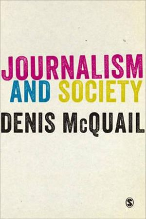 Cover of Journalism and Society