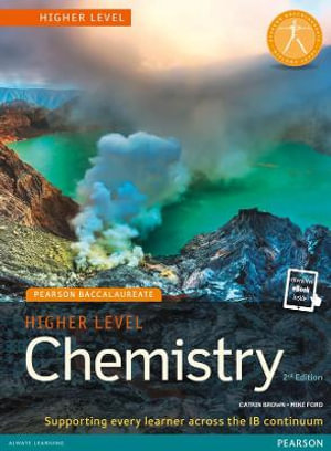 Cover of Pearson Baccalaureate Chemistry Higher Level 2nd Edition Print and Online Edition for the IB Diploma