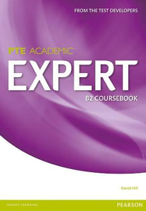Cover of Expert Pearson Test of English Academic B2 Standalone Coursebook