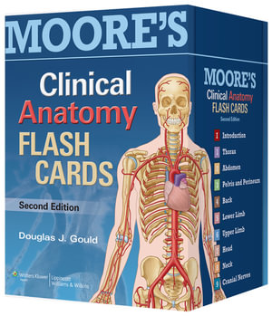 Cover of Moore's Clinical Anatomy Flash Cards