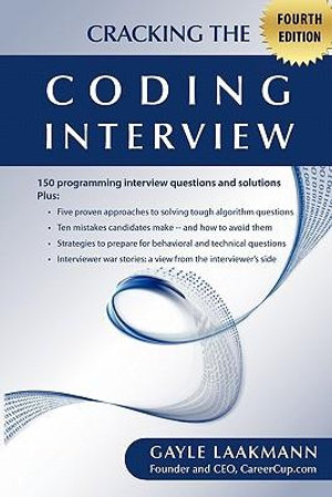 Cover of Cracking the Coding Interview, Fourth Edition