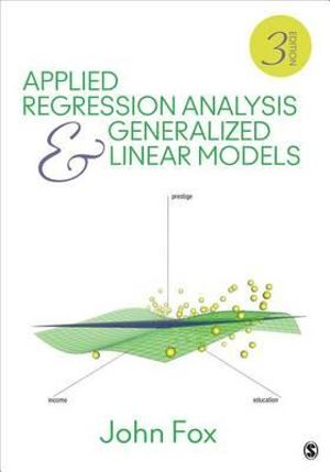 Cover of Applied Regression Analysis and Generalized Linear Models