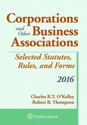 Cover of Corporations and Other Business Associations