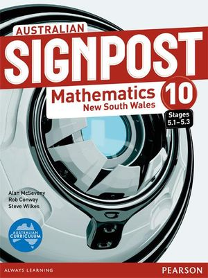 Cover of Australian Signpost Mathematics New South Wales 10 (5.1-5.3).