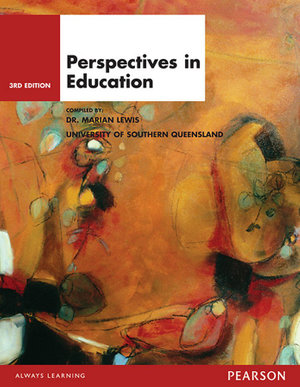 Cover of Perspectives in Education Custom Book                                   Source Books - see text