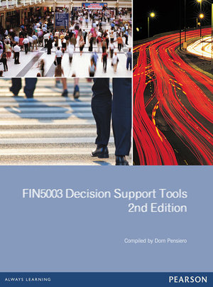 Cover of FIN5003 Decision Support Tools Custom Book                              Source Books - see tect