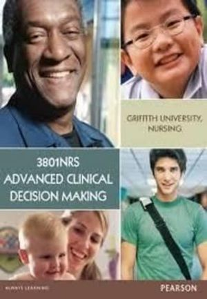 Cover of 3801NRS Advanced Clinical Decision Making Custom Book                   Source Books - see text