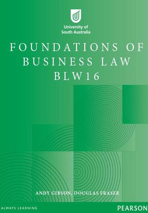Cover of Foundations of Business Law BLW16 Custom Book                           Source Book - see text