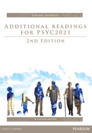 Cover of Additional Readings for PSYCH2021 Custom Book                           Source books, please see text