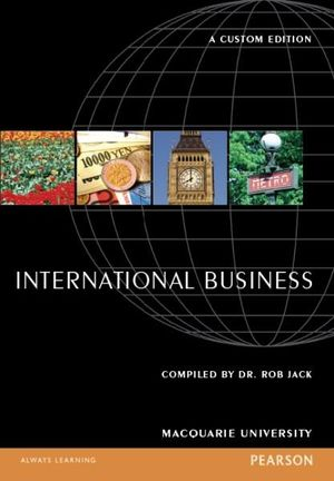 Cover of International Business Custom Book                                      Source books, please see text
