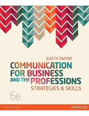 Cover of Communication for Business and the Professions