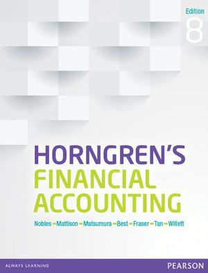 Cover of Horngren's Financial Accounting