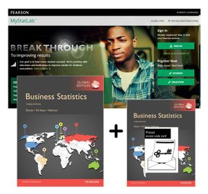 Cover of Value Pack Business Statistics Global Edition + MyStatLab with eText