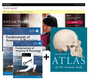 Cover of Value Pack Fundamentals of Anatomy & Physiology Global Edition + Modified MasteringA&P with eText + Martini's Atlas of the Human Body