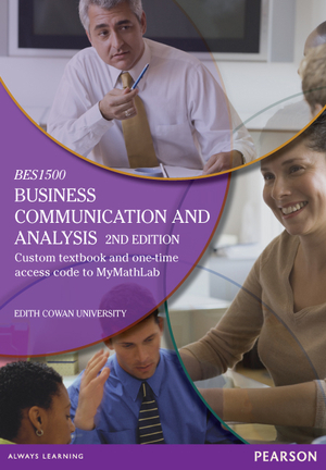 Cover of Business Communication and Analysis (Custom Edition)