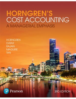 Cover of Horngren's Cost Accounting: a Managerial Emphasis