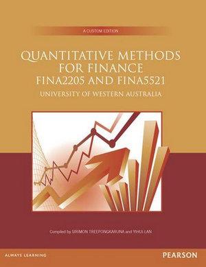 Cover of Quantitative Methods for Finance (Custom Edition)