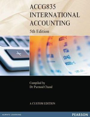 Cover of ACCG835 International Acct CB