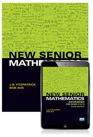 Cover of New Senior Mathematics Advanced Year 11 & 12 Student Book with Reader+