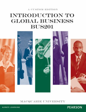 Cover of Intro to Global Business BUS201 CB