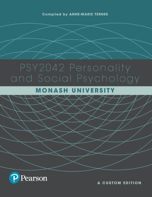 Cover of Personality and Social Psychology PSY2042 (Custom Edition)