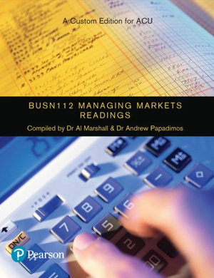 Cover of Managing Markets Readings BUSN112
