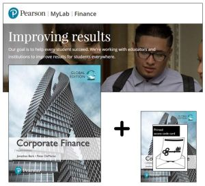 Cover of Value Pack Corporate Finance Global Edition + MyFinanceLab with eText