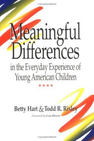 Cover of Meaningful Differences in the Everyday Experience of Young American Children