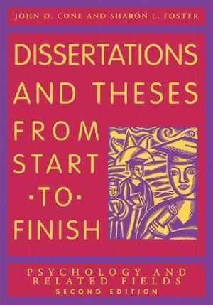 Cover of Dissertations and Theses from Start to Finish