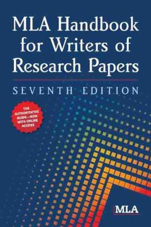 Cover of MLA Handbook for Writers of Research Papers