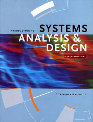 Cover of Introduction to Systems Analysis and Design