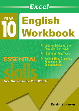 Cover of Excel Ess Skills English Workbook Yr10