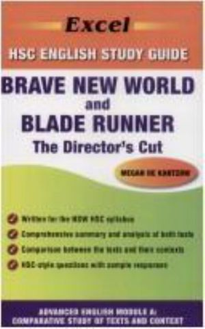 Cover of Brave New World by Aldous Huxley and Blade Runner: the Director's Cut Directed by Ridley Scott