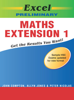 Cover of Excel Prelim Maths Ext 1 SG Yr 11