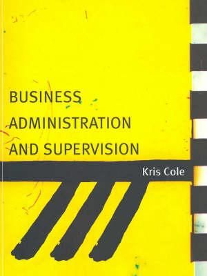 Cover of Business Administration and Supervision